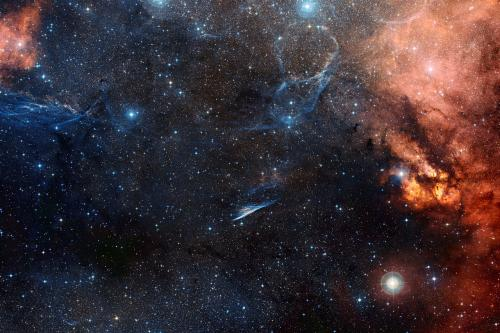 A celestial witch's broom? -- A new view of the pencil nebula
