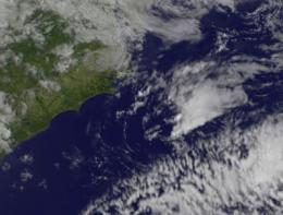 Alberto now a tropical depression, seen by NASA