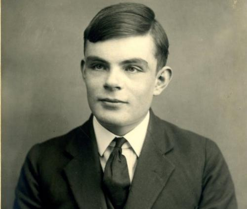 A picture released by Sherborne School in Dorset shows Alan Turing aged 16 in 1928