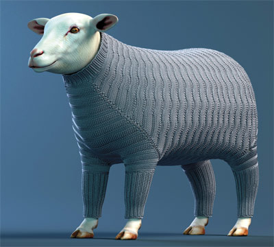 Computer-simulated knitting goes right down to the yarn (w/ Video)