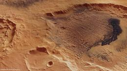 Mars crater shows evidence for climate evolution