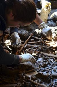 Mexico finds 100s of bones in unusual Aztec burial