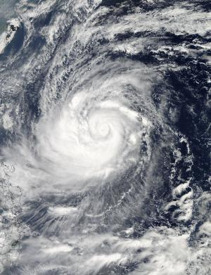 NASA eyes Typhoon Prapiroon's U-turn