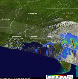 NASA measuring Tropical Storm Debby's heavy rains from space