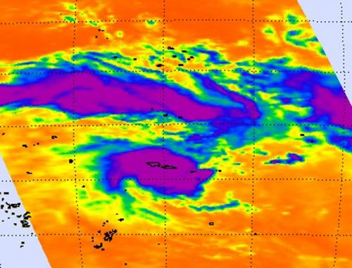NASA sees intensifying tropical cyclone moving over Samoan Islands