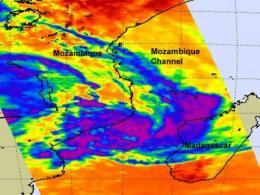 NASA sees Tropical Cyclone Funso develop, threaten Mozambique