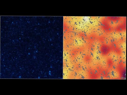 NASA's Spitzer sees light of lonesome stars
