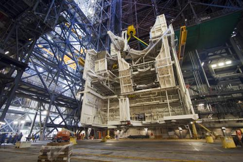 NASA's vehicle assembly building prepared for multiple rockets