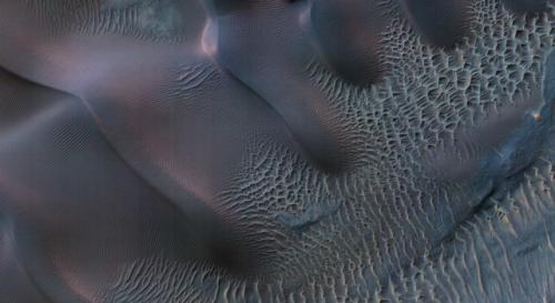 Photo from NASA Mars Orbiter shows wind's handiwork