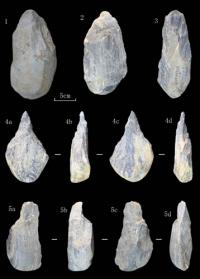 Stone artifacts with handaxes and picks found in Danjiangkou reservoir area, China