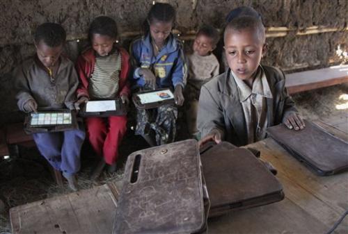 Tablet as teacher: Poor Ethiopian kids learn ABCs