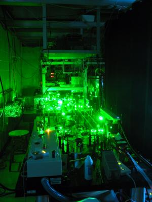 Using a laser to 'see' the smallest world