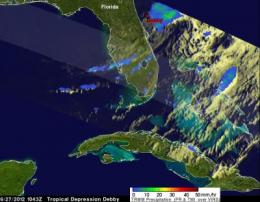 NASA's TRMM Satellite measures Debby's drenching Florida rains