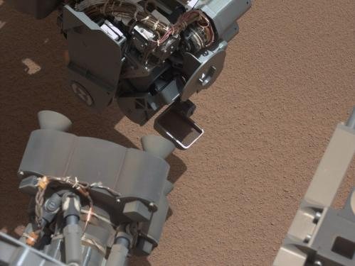 Mars rover Curiosity scoops, detects bright object