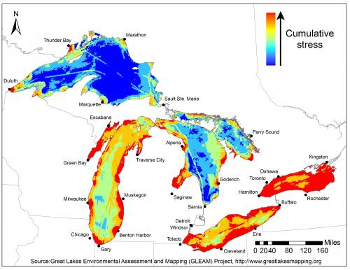 Environmental threat map highlights Great Lakes restoration challenges