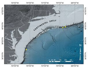 Explorers discover deepwater gas seeps off US Atlantic coast:  Advanced sonar technology key to discovery and mapping