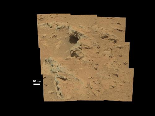 Curiosity rover finds old streambed on martian surface