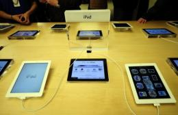 Apple's new iPad is on display at Apple's flagship store in New York on March 16