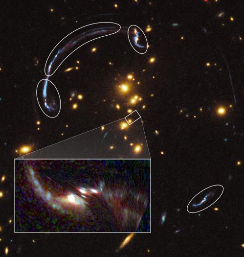 Hubble zooms in on a magnified galaxy