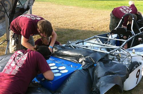 Hyperion thrives where other solar race cars fail; races back to second place