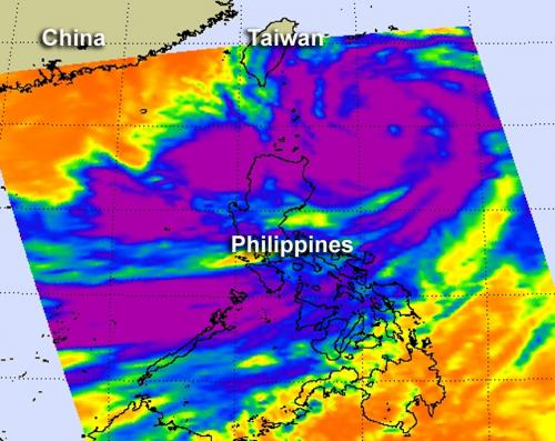 NASA sees Typhoon Saola's huge reach over the Philippines