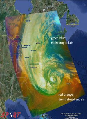 NASA's SPoRT team tracks Hurricane Sandy
