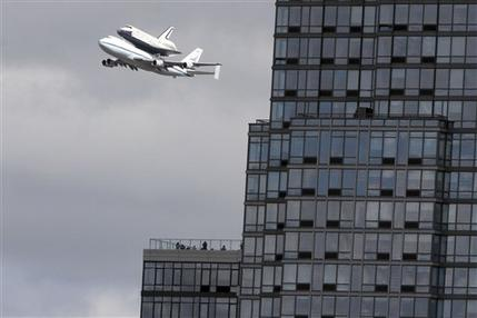 Space shuttle Enterprise arrives at NYC airport (AP)