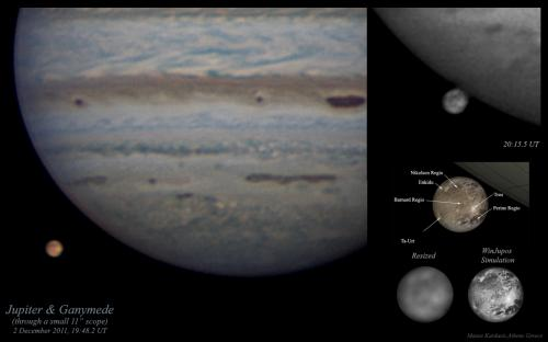 The surface of Ganymede in pictures