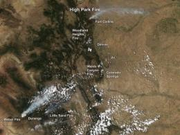 NASA satellites see wildfires across Colorado