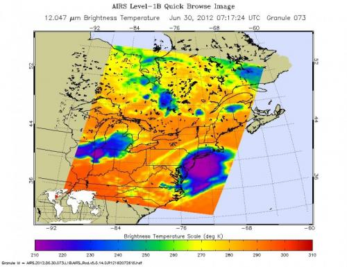 NASA satellites examine powerful summer derecho