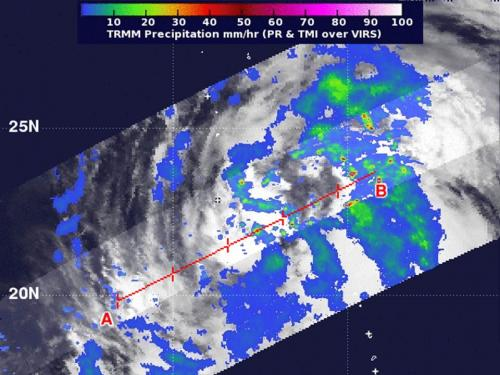 NASA sees heaviest rainfall in Tropical Storm Maliski's eastern side