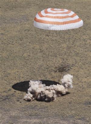 Soyuz spacecraft lands safely in Kazakhstan