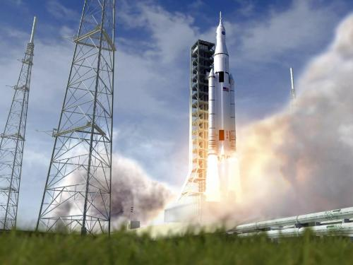 Space launch system: A year of powering forward