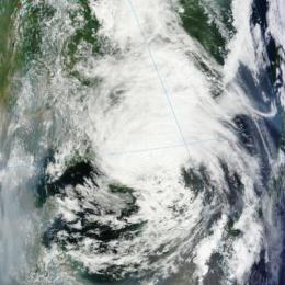 Tropical Depression Khanun blankets South Korea