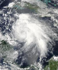 NASA satellites revealed Tropical Storm Ernesto's strongest side