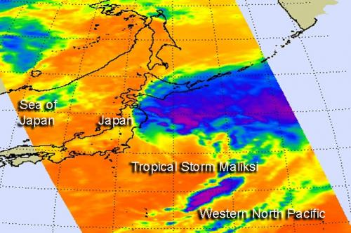 NASA sees Tropical Storm Maliksi put final touches on Japan