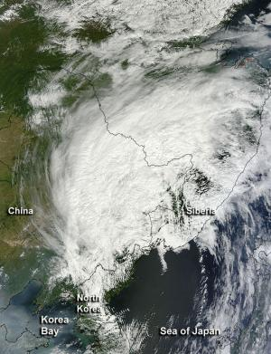 NASA satellite sees remnants of Tropical Storm Bolaven racing over China and Russia