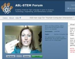 Crowdsourcing site compiles new sign language for math and science