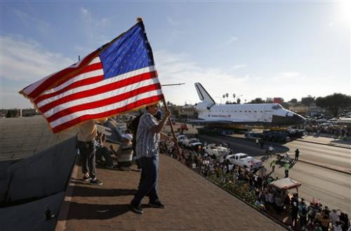 Endeavour's final miles turn into all-night affair