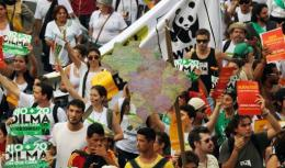 Environmental activists demonstrate in the sidelines of the UN Conference on Sustainable Development, Rio+20