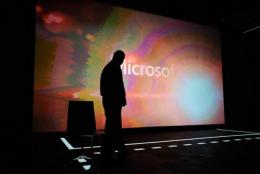 Microsoft CEO Steve Ballmer attends a news conference