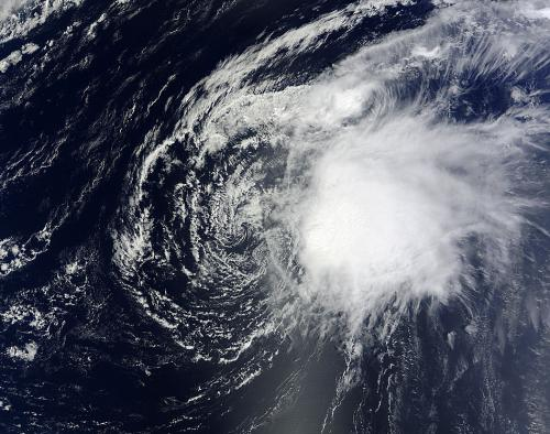 NASA satellites indicate wind shear taking toll on Oscar
