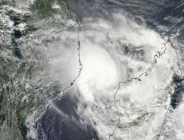 NASA satellite sees tropical cyclone Irina headed for Mozambique
