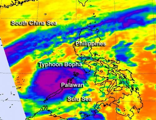 NASA satellites analyze Typhoon Bopha inside and out