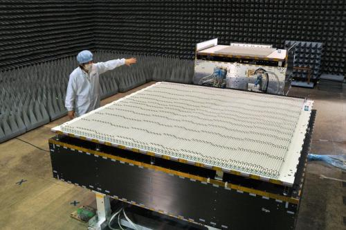 Spaceborne precipitation radar ships from Japan to U.S.