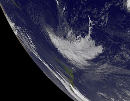 NASA sees Cyclone Evan blown apart by wind shear