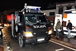 A GIPN van (French National Police Intervention Group) arrives in Toulouse, southwestern France