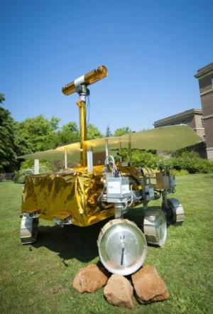 A model of the Mars Rover Demonstrator (also known as Bridget) is pictured in 2010
