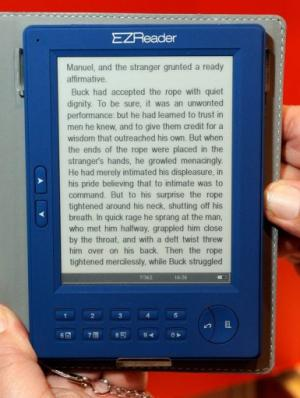 An eBook reader at the 2010 International Consumer Electronics Show in Las Vegas on January 7, 2010