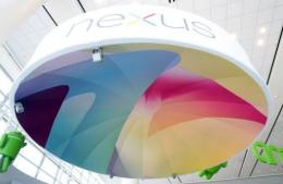 A Nexus display hangs at Google's Developers Conference in San Francisco, California, in June